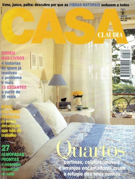 Ateliê Ana Cordeiro - Publicações 10/ Revista Casa Claudia ANO 21 setembro