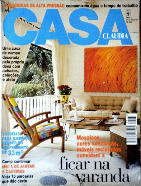 Ateliê Ana Cordeiro- Publicações 11/ Revista Casa Claudia ANO 21 outubro