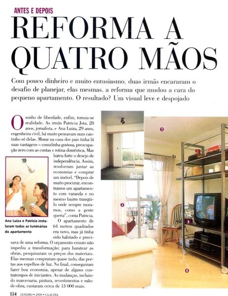 Ateliê Ana Cordeiro - Publicações 21b / Revista Claudia ANO 39 janeiro
