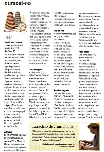 Ateliê Ana Cordeiro- Publicações 5c/ Revista Casa Claudia - ANO 28 abril