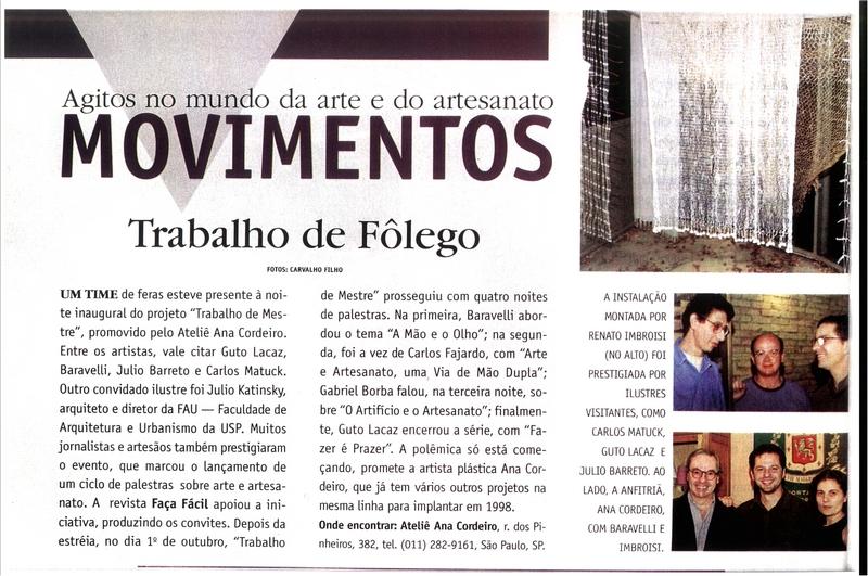 Ateliê Ana Cordeiro – Publicações 34b / Revista Faça Fácil -ANO XIV- N 154