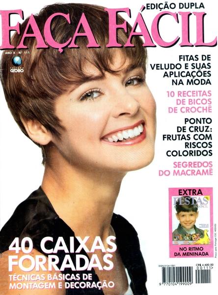 Ateliê Ana Cordeiro – Publicações 29/ Revista Faça Fácil ANO X n 11