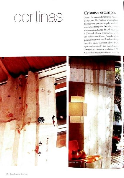 Ateliê Ana Cordeiro-Publicações 1b / Revista Casa Claudia ANO 37 agosto