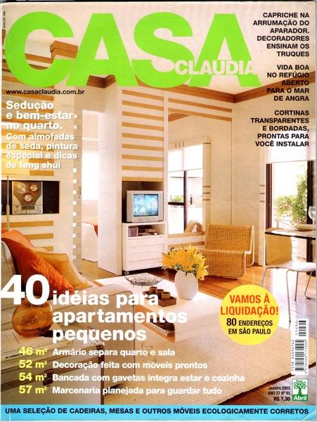 Ateliê Ana Cordeiro-Publicações 7/ Revista Casa Claudia ANO 27 janeiro