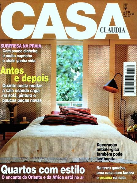 Ateliê Ana Cordeiro Publicações 12 / Revista Casa Claudia ANO 22 julho