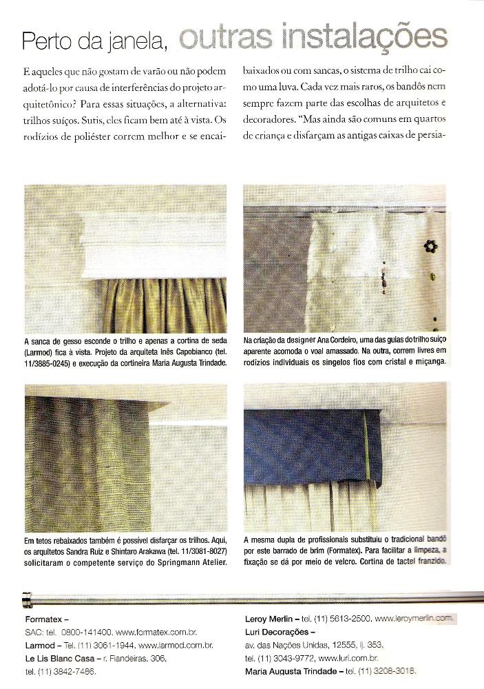 Ateliê Ana Cordeiro-Publicações 3c/ Revista Casa Claudia ANO 29 março
