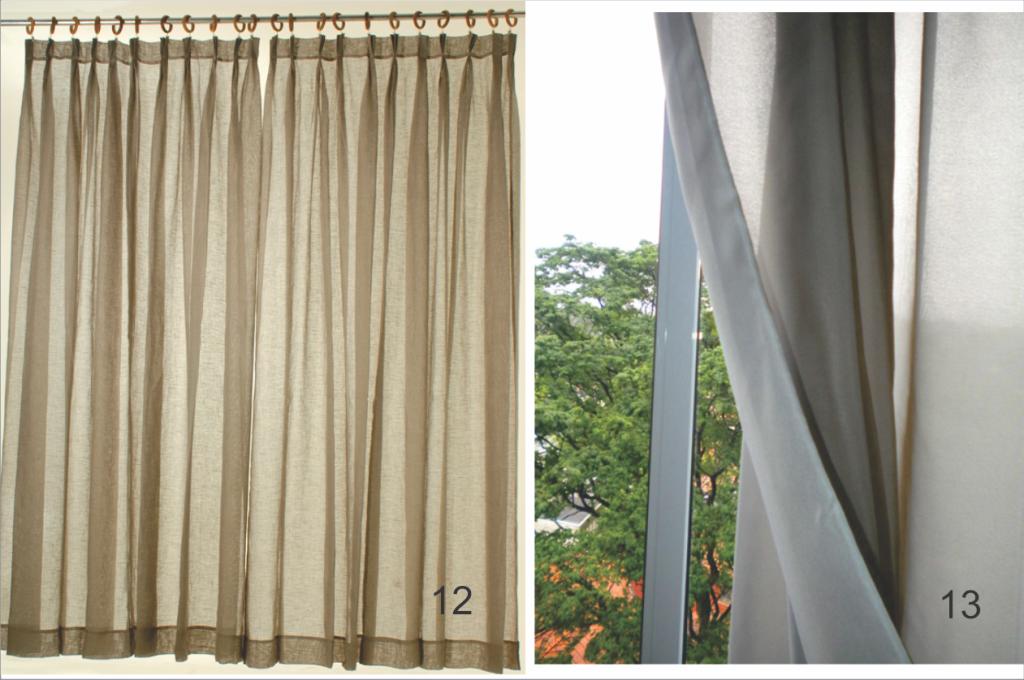 Cortinas de gaze de linho e cortinas de voil duplo