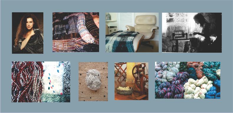 Trabalhos de fiação e tecelagem artesanal de Ana Cordeiro